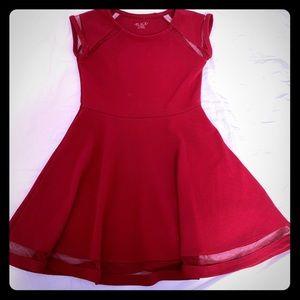 Girls cute red dress